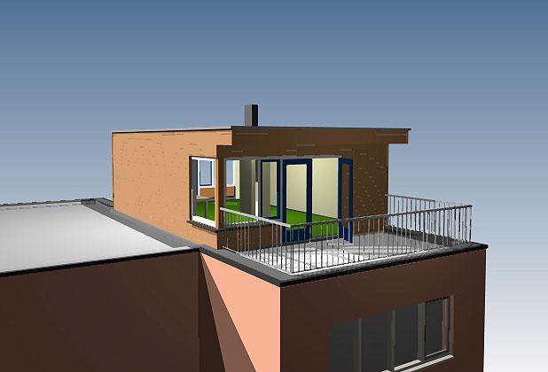 Dakopbouw op een plat dak in n dag geplaatst wat is for Zelf een huis bouwen wat kost dat